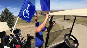 Golf Flags Handicap Flag For Golf Cart Works With Other Flags Too Youtube