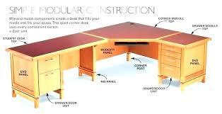Corner Desk Diy Corner Computer Desk Desk Build A Desk Plans Diy Computer
