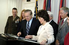 George Bush Cabinet Elaine Chao Back In The Cabinet The Arch Conservative