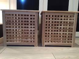 Ikea Storage Boxes Wooden Ikea Hol Acacia Wooden 2 Small 1 Large Storage Box Table Laundry