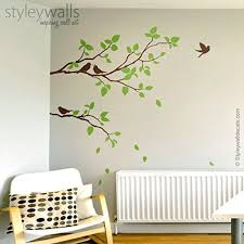 bird decorations for home two spring branches wall decal branches with birds wall decal for