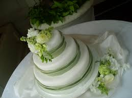 wedding cake green green and white wedding cake with fresh flowers wedding dish