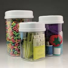 clear plastic kitchen canisters one easy open canister set of 3 clear plastic containers with