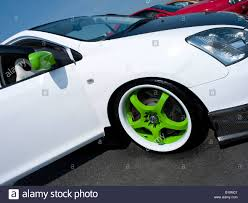 slammed cars white honda civic type r green wheel rims slammed wheel rim cars
