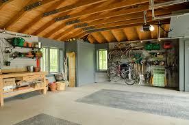 Garage Interior Wall Ideas Living Room Fabulous Large Farmhouse Garage Interior Dominated