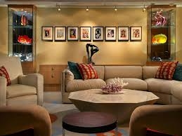 recessed lighting bookshelves serpentine shelves area rug