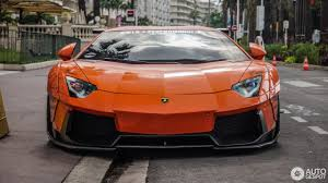 Lamborghini Aventador Orange - lamborghini aventador lp700 4 liberty walk lb performance wide