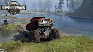 mud truck diesel brothers spintires mega ford mud truck in the swamp youtube