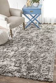Solid Grey Rug Amazon Com Anji Mountain Amb0651 0058 Silky Shag Area Rug Ivory