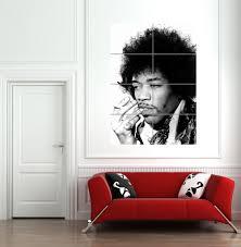 Giant Wall Murals by Amazon Com Jimi Hendrix Giant Wall Mural Poster Art Print B626