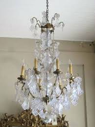 Antique Rock Crystal Chandelier Rare 19th Century French Bronze Rose Quartz And Amethyst Rock