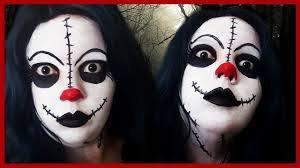 creepy clown doll u0027 halloween makeup tutorial youtube