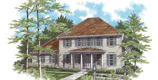 Federal Style House Plans Mascord House Plan 2166 The Wallace