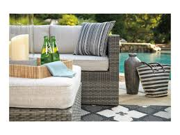 Patio Chairs With Ottomans by Signature Design By Ashley Peckham Park Outdoor Sectional Set With