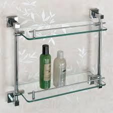 Bathroom Shelves Glass Bathroom Shelf Metal Glass Bathroom Decoration Plan