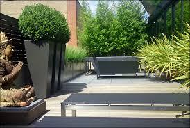 elegant minimalist terrace garden for garden contemporary