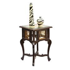 teak wood end table walnut brown teak wood corner table with dhokra and warli work size