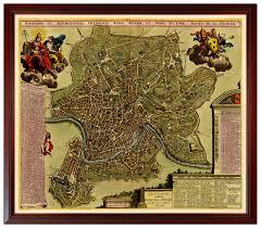 Framed World Map by Rome Paris London Maps Framed Set Battlemaps Us