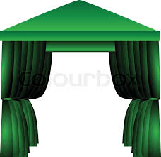 Tent Awning Tent Canopy Stock Vector Colourbox