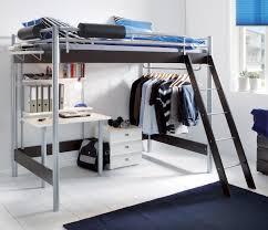Schreibtisch 140 Cm Breit Hochbett Für Erwachsene Mit Schreibtisch Und Kleiderstange Finn