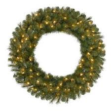 30 in pre lit led wesley pine artificial wreath x 191