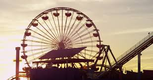 California nature activities images Silhouette ferris wheel dramatic sky sunset santa monica pier jpg