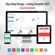 professional ebay shop design auction listing template mobile