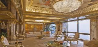 trump palace legendary decorated with gold and diamonds