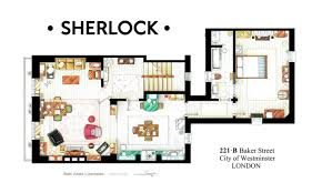 Floorplan Of A House The Floorplan Of Sherlock Holmes Apartment In 221b Baker Street