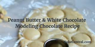 peanut butter u0026 white chocolate modeling chocolate recipe