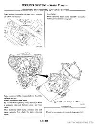 nissan pathfinder water pump replacement nissan 300zx 1984 z31 engine lubrication and cooling system
