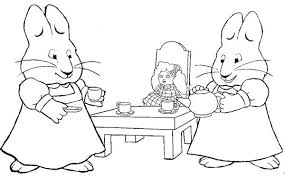 ruby play dolls house in max and ruby coloring page coloring sky