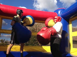party rentals michigan bouncy boxing interactive kids party rentals