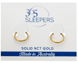 gold sleeper earrings 1 pair 9ct solid yellow gold sleeper earrings 365 sleepers