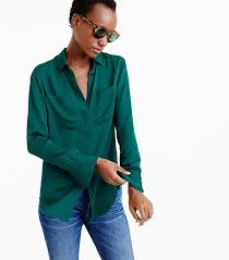 j crew blouses a by tutorial on how to wear your shirt like a j crew