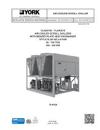 ylaa0180 0516 style b 50 hz air cooled scroll chillers brazed