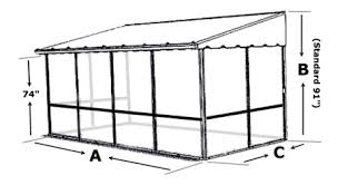 Do It Yourself Awning Kits Trailer Deck Enclosure System Screen Room For Trailer Decks