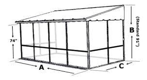 trailer deck enclosure system screen room for trailer decks
