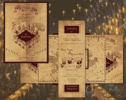 harry potter wedding invitations wedding invitation set harry potter marauder s map
