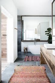 Dreamy Modernmeetsorganic Bathroom With Concrete Floors Vintage - Organic bathroom design