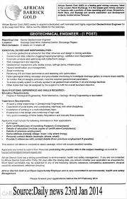 Civil Engineer Sample Resume by Download Geotechnical Engineer Sample Resume