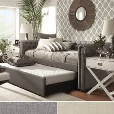 modern daybeds with pop up trundle and nightstands elegant design