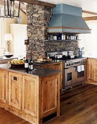 rustic kitchen decorating ideas with wooden cabinet and table 918