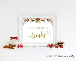 christmas party drink sign christmas party decorations