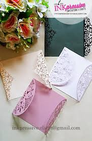 intricate cut envelopes for invitations wedding invitations