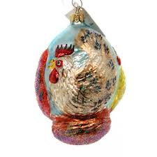 christopher radko 3 hens ornament 12 days three ltd ed 95sp09