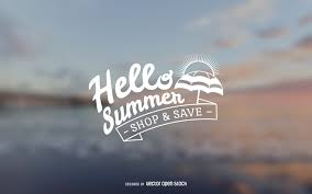summer sale hello summer sale sign vector