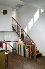 handrails for stairs staircase modern with wood stair railing