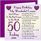 cousin 60th happy birthday card lots of love to the best cousin