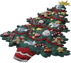 bucilla bright u0026 merry christmas tree wall hanging kit christmas
